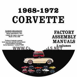1968-1972 Chevrolet Corvette Factory Assembly Manuals | eBooks | Automotive