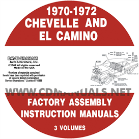 1970-1972 Chevelle Factory Assembly Manual With El Camino, Monte | eBooks | Automotive
