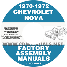 1970-1972 Chevrolet Chevy Ii Nova Factory Assembly Manuals | eBooks | Automotive