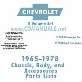 1965-1978 Chevrolet Illustrated Parts Book | eBooks | Automotive
