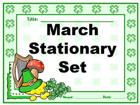 March Stationery Set | Other Files | Documents and Forms