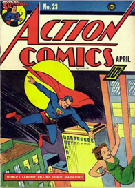 Superman Action Comic Covers