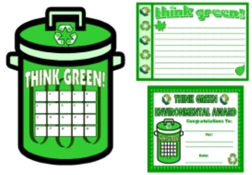 First Additional product image for - Think Green Stationery and Sticker Chart Set