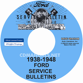 1938-1948 Ford, Lincoln, Mercury Service Bulletins Repair Manual | eBooks | Automotive
