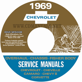 1969 Chevy Shop, Overhaul, & Body Manuals- All Models | eBooks | Automotive