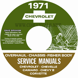1971 Chevy Shop, Overhaul, & Body Manuals- All Models | eBooks | Automotive