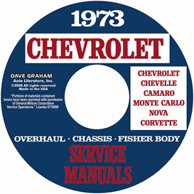 1973 Chevy Shop, Overhaul, & Body Manuals- All Models | eBooks | Automotive