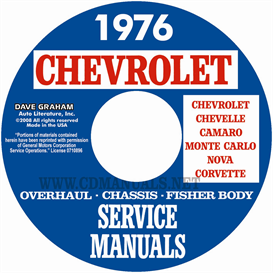 1976 Chevy Shop, Overhaul, & Body Manuals- All Models | eBooks | Automotive