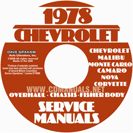1978 Chevy Car Service , Overhaul, & Body Manuals | eBooks | Automotive