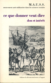 Revue du MAUSS No 1 Ce que donner veut dire | eBooks | Social Science