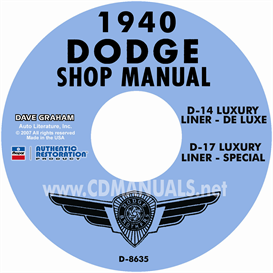 1940 Dodge Service Manual - All Models | eBooks | Automotive