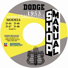 1953 Dodge Service Manual - All Models | eBooks | Automotive
