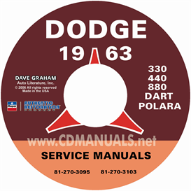 1963 Dodge Service Manual - All Models | eBooks | Automotive