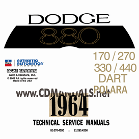 1964 Dodge Service Manual - All Models | eBooks | Automotive
