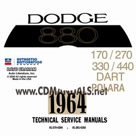 1964 Dodge Service Manual - All Models | eBooks | Automotive