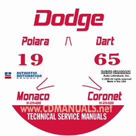 1965 Dodge Service Shop Manual - All Models | eBooks | Automotive
