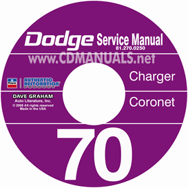 1970 Dodge Charger, Coronet, & Super Bee Cd Shop Manual | eBooks | Automotive