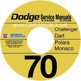 1970 Dodge Service Manuals Challenger, Dart, Polara, Monaco | eBooks | Automotive