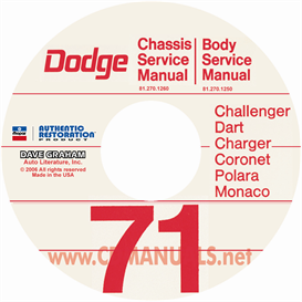 1971 Dodge Car Service Manuals - All Models | eBooks | Automotive