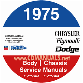 1975 chrysler, dodge, & plymouth repair manual- all models