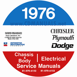 1976 Chrysler, Dodge, & Plymouth Service Manuals - All Models | eBooks | Automotive
