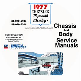1977 chrysler, dodge, & plymouth service manuals - all models