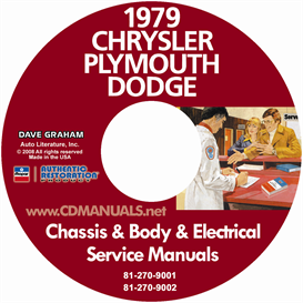 1979 Chrysler, Dodge, & Plymouth Service Manuals - All Models | eBooks | Automotive