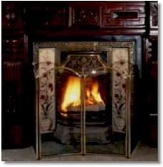 fireplace sounds with thunder - pure ambiance