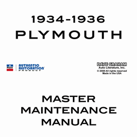 1934-1936 Plymouth Shop Manual | eBooks | Automotive