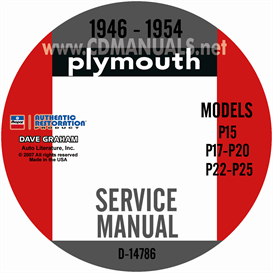 1946-1954 Plymouth Shop Manual | eBooks | Automotive