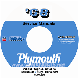 1968 Plymouth Shop Manual   eBooks   Automotive