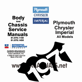 1971 Plymouth, Chrysler, & Imperial Manual- All Models   eBooks   Automotive