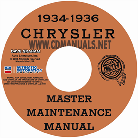 1934-1936 CHRYSLER MASTER SHOP MANUAL All Models | eBooks | Automotive