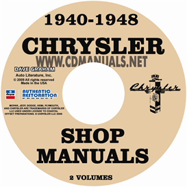 1940-1948 CHRYSLER SHOP MANUAL All Models | eBooks | Automotive
