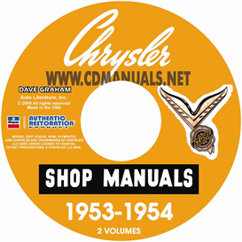 1953-1954 CHRYSLER SHOP MANUAL All Models | eBooks | Automotive