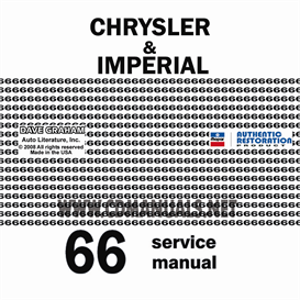 1966 CHRYSLER SHOP MANUAL All Models | eBooks | Automotive