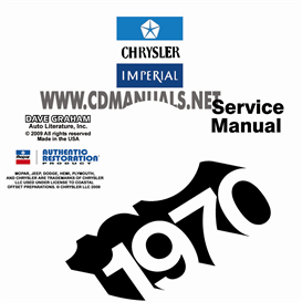 1970 CHRYSLER SHOP MANUAL All Models | eBooks | Automotive