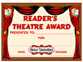 Reader's Theatre Award | Other Files | Documents and Forms