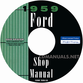 1959 Ford Shop Manual- All Models | eBooks | Automotive