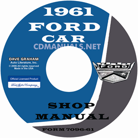 1961 Ford Car Shop Manual - All Models | eBooks | Automotive