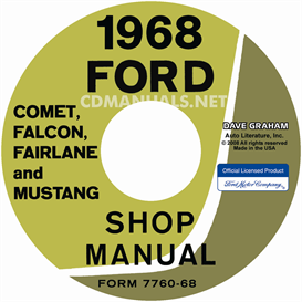 1968 Shop Manual Mustang/Fairlane/Falcon/Fairlane/Montego/Cougar | eBooks | Automotive