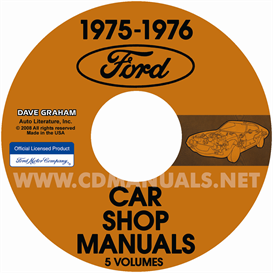 1975-1976 Ford, Lincoln, & Mercury Car Shop Manual Original 5 Vo | eBooks | Automotive