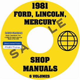 1981 Ford Lincoln Mercury Car Repair Manuals All Models | eBooks | Automotive