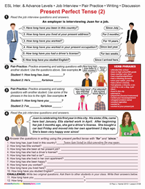 ESL / PRESENT PERFECT TENSE (2) Job Interview Item 0108   Other Files   Documents and Forms