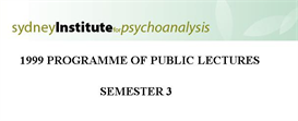 Sydney Institute For Psychoanalysis 1999 Public Lecture Series Term 3 | eBooks | Psychology & Psychiatry
