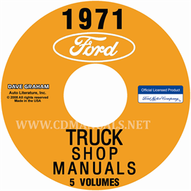 1971 Ford Truck Repair Manual 5 Volume Set | eBooks | Automotive