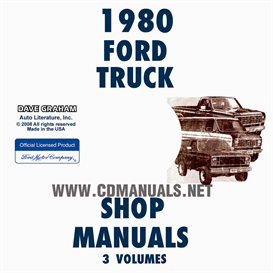 1980 Ford Truck And Van Repair Manual Set | eBooks | Automotive