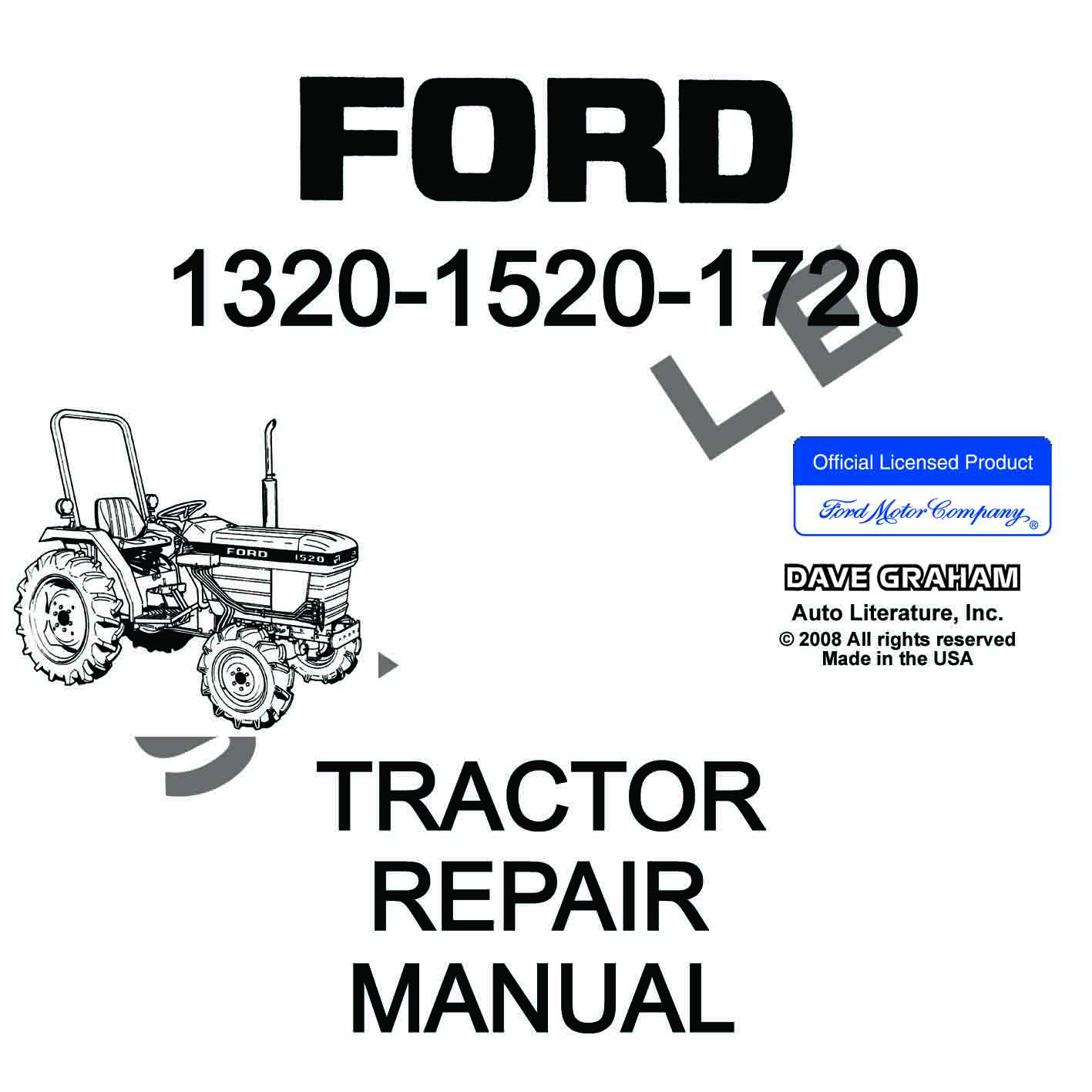 1320  1520  1720 Ford Tractor Shop Manual