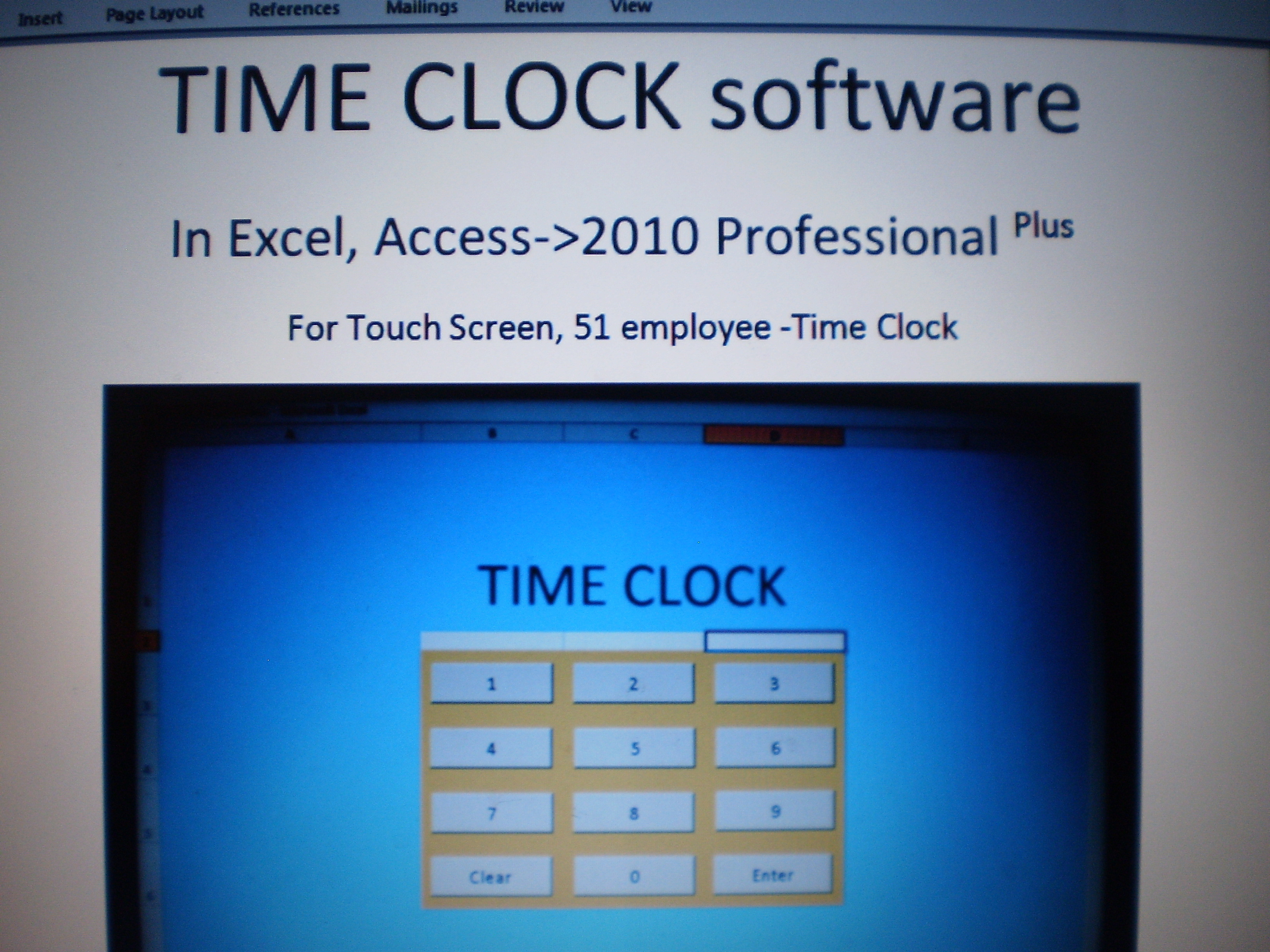 excel timeclock