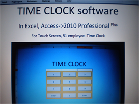 TIME CLOCK software, In Excel & Access. | Software | Business | Other